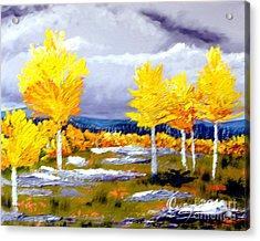 Santa Fe Aspens Series 2 Of 8 Acrylic Print