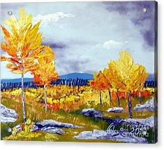 Santa Fe Aspens Series 6 Of 8 Acrylic Print