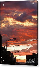 Santa Fe At Dusk New Mexico Acrylic Print