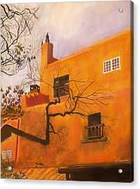 Santa Fe Building Acrylic Print by Leonor Thornton