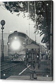 Santa Fe Combined El Capitan And Super Chief At Pasadena California Station Acrylic Print