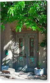 Santa Fe Door Acrylic Print by David Patterson