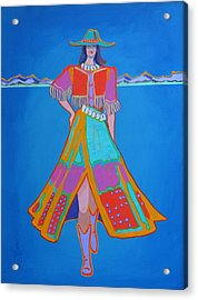 Santa Fe Girl  Acrylic Print
