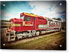 Santa Fe Locomotive Acrylic Print by Charrie Shockey