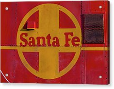 Santa Fe Railroad Acrylic Print by Garry Gay