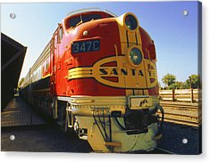 Santa Fe Railroad Acrylic Print by Art America Gallery Peter Potter
