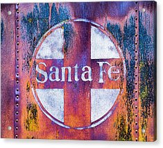 Acrylic Print featuring the photograph Santa Fe Rr by Lou Novick