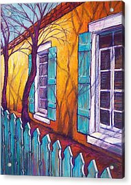 Santa Fe Shutters Acrylic Print by Candy Mayer