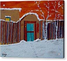 Santa Fe Snowstorm Acrylic Print by Joseph Frank Baraba
