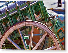 Acrylic Print featuring the photograph Santa Fe Spokes by Stephen Anderson