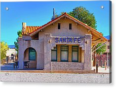Acrylic Print featuring the photograph Santa Fe Station by Stephen Anderson