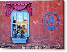 Santa Fe Street Reflection Acrylic Print
