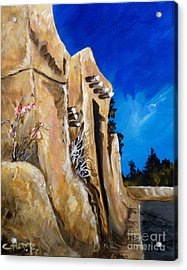 Acrylic Print featuring the painting Santa Fe Stroll by Chad Berglund