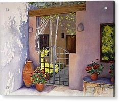 Santa Fe Sunlit Patio Acrylic Print