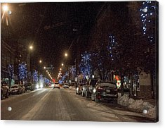 Acrylic Print featuring the photograph Santa Visits Bradford by Wade Aiken