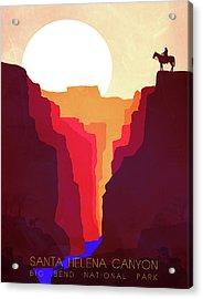 Santa Helena Canyon 1  Acrylic Print