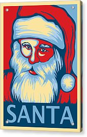 Santa Hope Acrylic Print by David Kyte