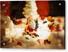 Santa In Town Acrylic Print by Sun Wu