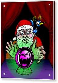 Santa Knows Acrylic Print by Christopher Capozzi