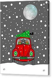 Santa Lane Acrylic Print