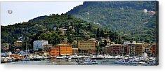 Acrylic Print featuring the photograph Santa Margherita Ligure by Corinne Rhode