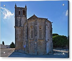 Santa Maria Do Carmo Church In Lourinha. Portugal Acrylic Print