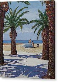 Santa Monica Beach  Acrylic Print by Karen Doyle