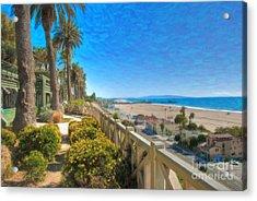 Santa Monica Ca Palisades Park Bluffs Gold Coast Luxury Houses Acrylic Print by David Zanzinger