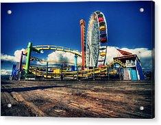Santa Monica Acrylic Print by Chris Multop