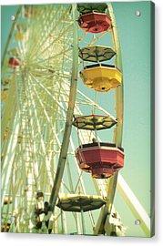 Santa Monica Ferris Wheel Acrylic Print