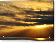 Acrylic Print featuring the photograph Santa Monica Golden Hour by Kyle Hanson