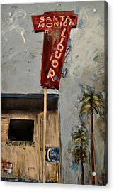 Acrylic Print featuring the painting Santa Monica Liquor by Lindsay Frost