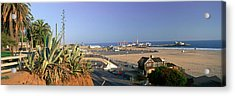 Santa Monica, Overlooking The Beach Acrylic Print by Panoramic Images