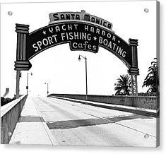 Santa Monica Pier Arch Acrylic Print