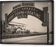 Santa Monica Sign Series Modern Vintage Acrylic Print