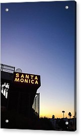 Santa Monica Sunrise Acrylic Print by Art Block Collections
