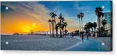 Santa Monica Sunset Acrylic Print by Az Jackson