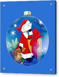 Santa Mouse Child's Shirt Acrylic Print