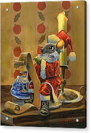 Santa Mouse Acrylic Print by Jeff Brimley
