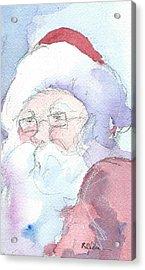 Santa  Acrylic Print by Robert Yonke