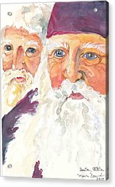 Santa Santa Acrylic Print by P Maure Bausch