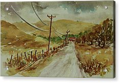 Acrylic Print featuring the painting Santa Teresa County Park California Landscape 3 by Xueling Zou