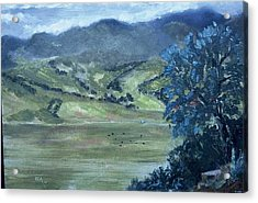 Santa Yanez Valley       First Day Of Spring Acrylic Print by Bryan Alexander