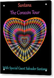 Acrylic Print featuring the digital art Santana The Corazon Tour by Visual Artist Frank Bonilla