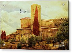 Sant'antimo Acrylic Print by KaFra Art