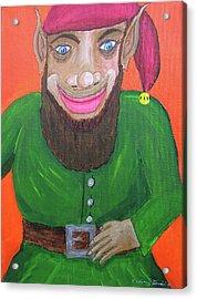 Santa's Happy Elf Acrylic Print by Gordon Wendling