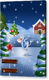 Santa's House - North Pole  Acrylic Print by Maggie Terlecki