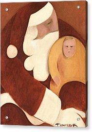 Santa's Lap Art Print Acrylic Print