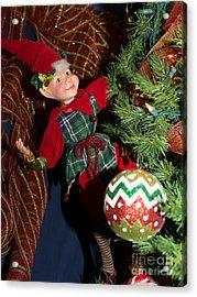 Santas Little Helper In Petaluma California Usa Dsc3767 Acrylic Print by Wingsdomain Art and Photography