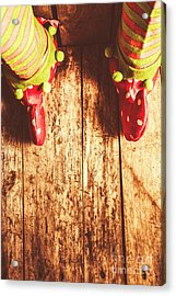 Santas Little Helper Acrylic Print by Jorgo Photography - Wall Art Gallery